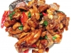Stir-fried Sakura Chicken with Basil and Golden Garlic